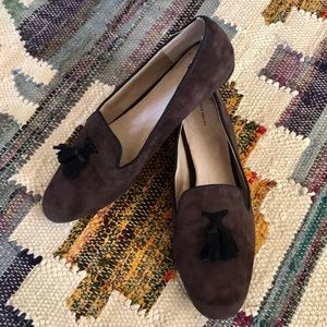 Land'sEnd brown suede loafers